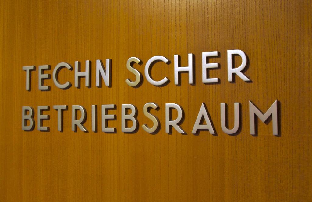 metal sign lettering at the Haus der Kulturen der Welt