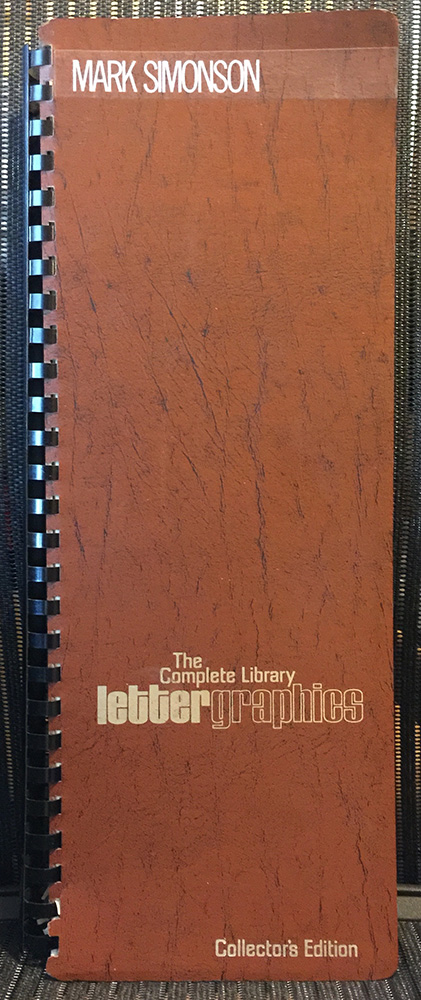 Lettergraphics catalog cover, 1976.