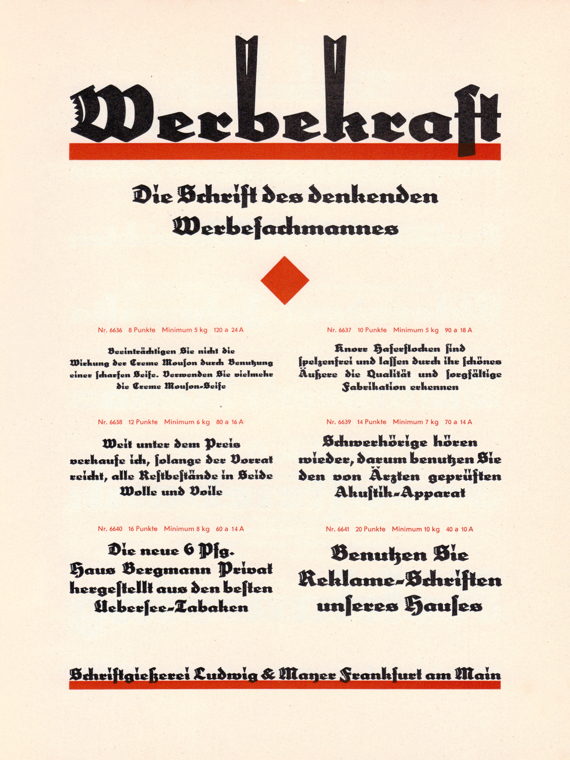 Specimen for Werbekraft