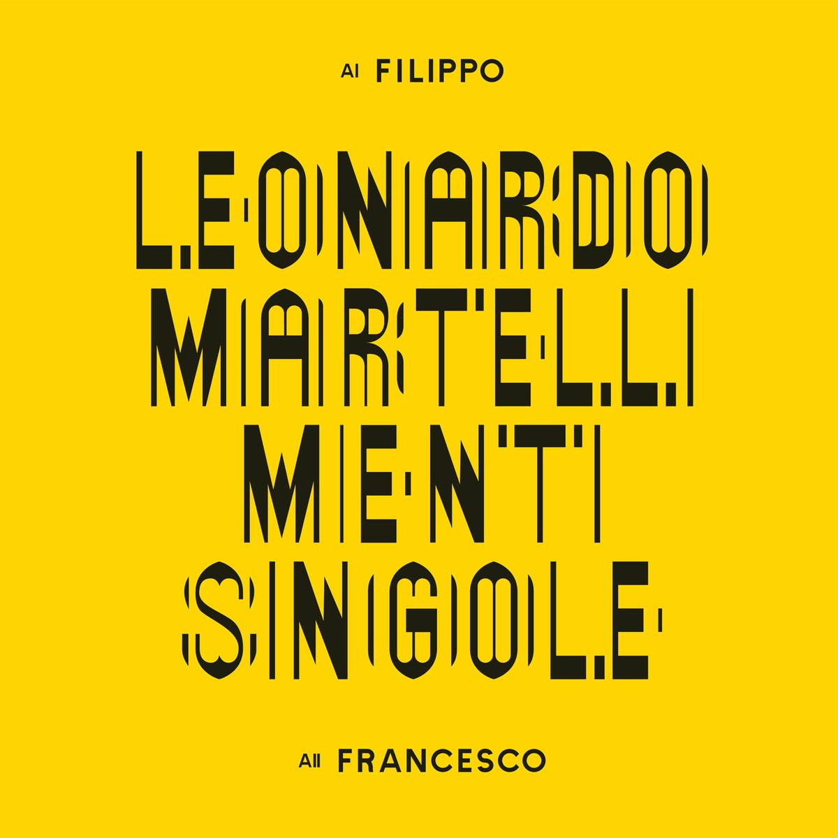 LEONARDO MARTELLI - MENTI SINGOLE