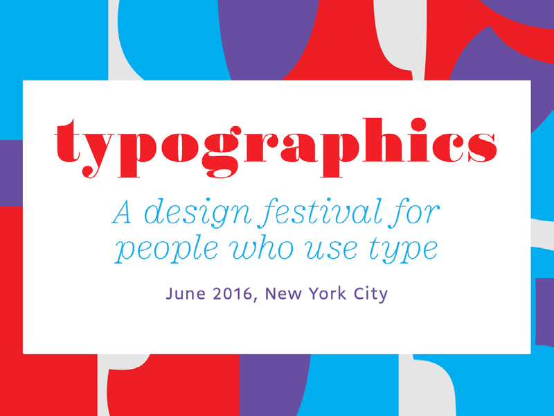 Typographics NYC ad in production Type newsletter