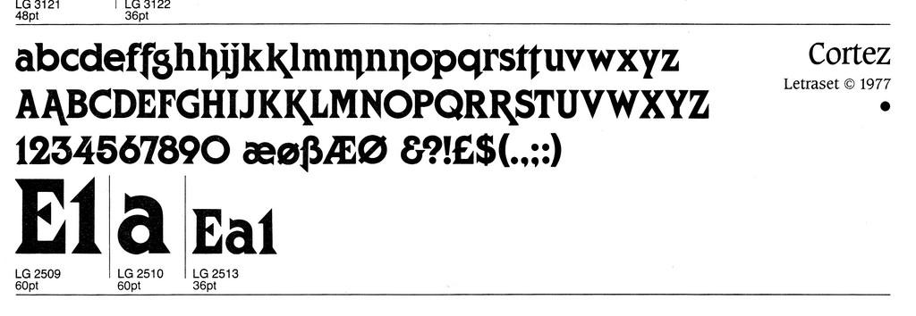 Cortez by Philip Kelly (Letraset, 1977)