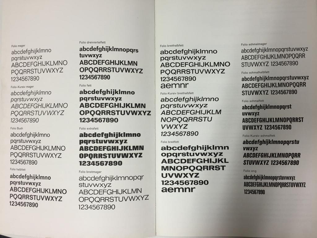 Bauer Folio inside spreads, newer specimen (left in side by side photo)