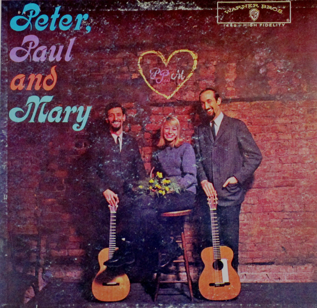 Vintage Vinyl LP Cover: Peter, Paul and Mary, 1962