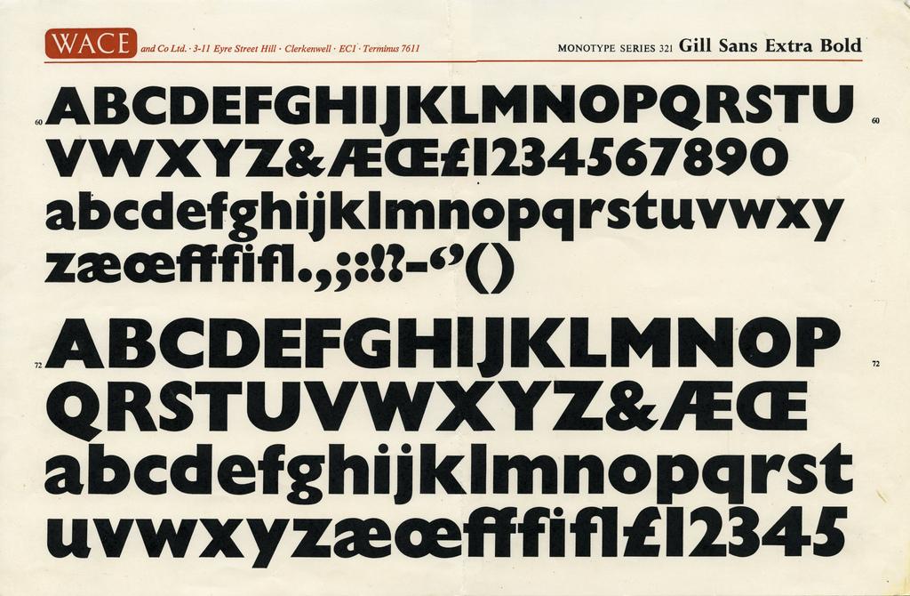 Gill Sans Extra Bold (Wace)