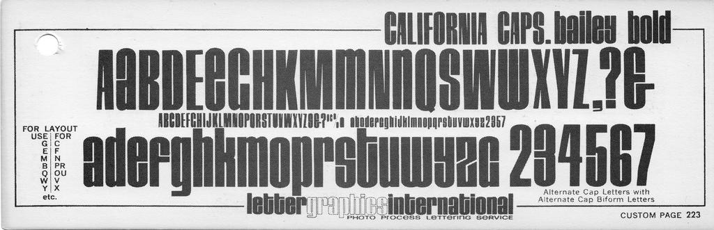 California Caps, Bailey Bold