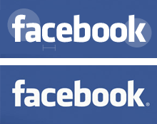 Klavika and the Facebook logo