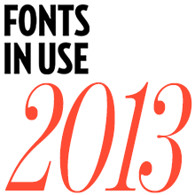 The Best of <cite>Fonts In Use</cite> in 2013