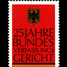 25 years of the Federal Constitutional Court, German Federal Post Office